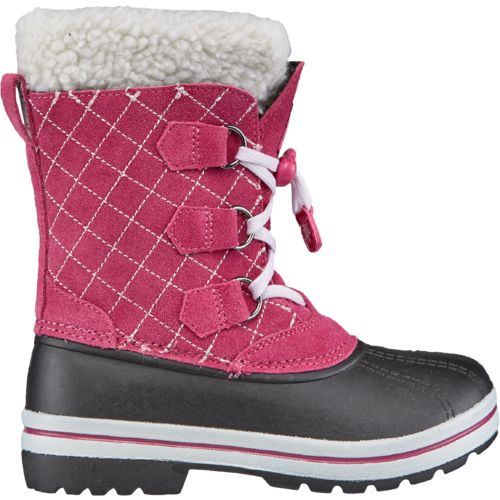 Magellan Outdoors Girls' Suede Quilted Pac Boots