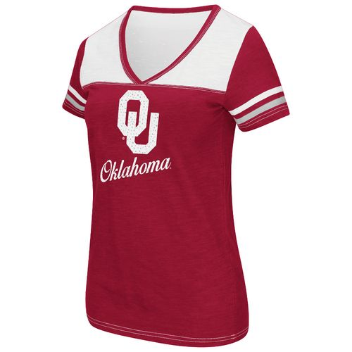 Colosseum Athletics™ Women's University of Oklahoma Rhinestone Short Sleeve T-shirt