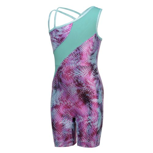 Capezio® Girls' Future Star Printed Biketard with Strapping