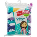 Hanes Girls' ComfortSoft Low Rise Briefs 9-Pack