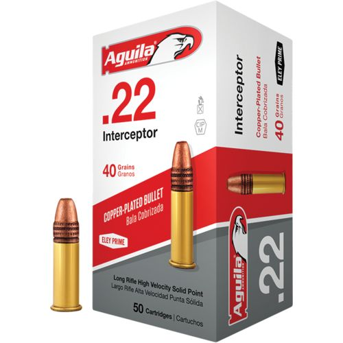 Aguila Ammunition Interceptor .22 LR 40-Grain Rimfire Ammunition