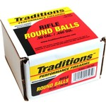 Traditions .50 177-Grain Rifle Lead Round Balls 100-Pack