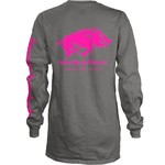 Three Squared Juniors' University of Arkansas Cynthia Pocketed Long Sleeve T-shirt