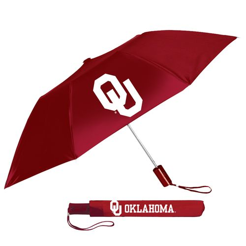Storm Duds Adults' University of Oklahoma Automatic Folding Umbrella - view number 1