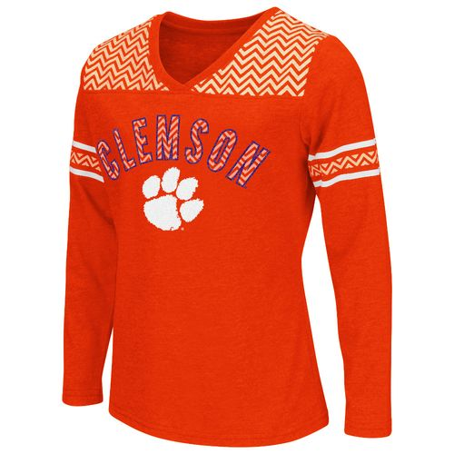 Colosseum Athletics™ Girls' Clemson University Cupie Long Sleeve T-shirt - view number 1