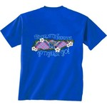 New World Graphics Women's University of Memphis State Bright Plaid T-shirt