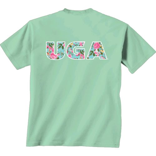 New World Graphics Women's University of Georgia Floral T-shirt