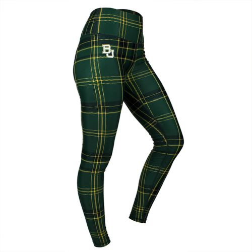 ZooZatz Women's Baylor University Tartan Plaid Legging