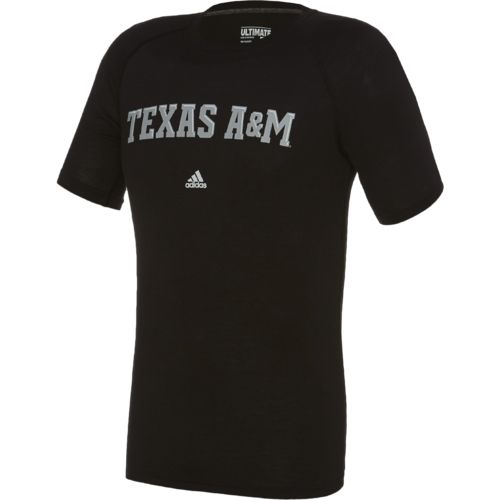 adidas Men's Texas A&M University Wordmark Ultimate T-shirt - view number 1