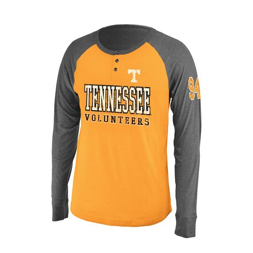 Colosseum Athletics Men's University of Tennessee Spotter Long Sleeve Henley Shirt