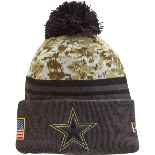 Dallas Cowboys Knit Hat Pattern : New Era Mens Dallas Cowboys Salute to Service Sport Knit Hat Academy