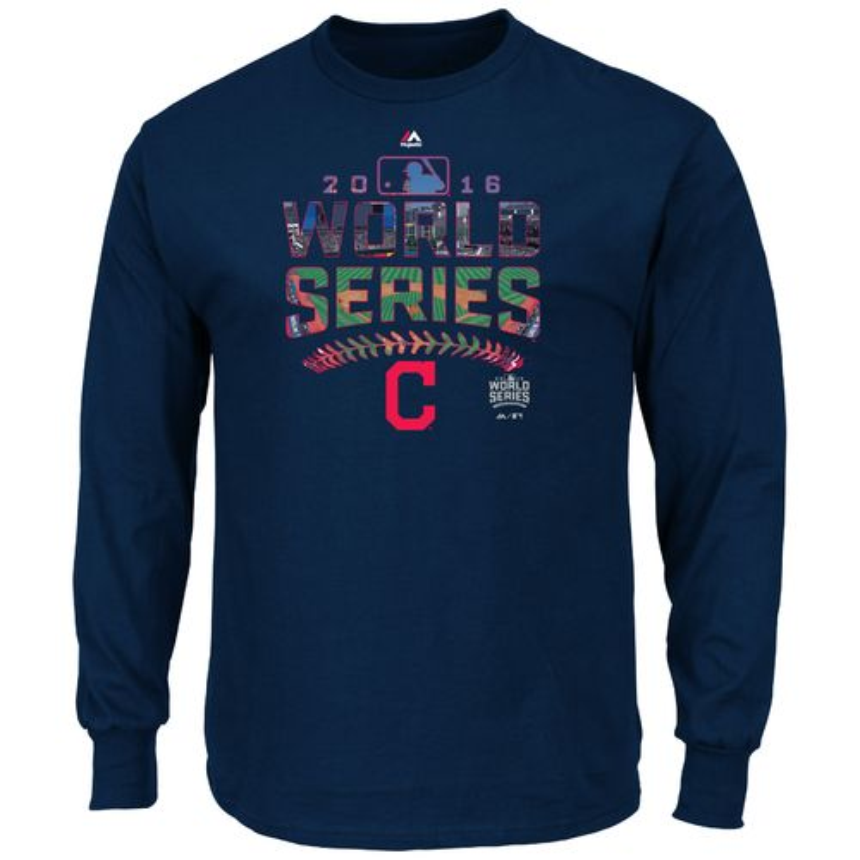 Majestic Men's Cleveland Indians Attention Grabber World Series