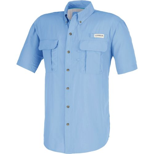 Display product reviews for Magellan Outdoors Men's Laguna Madre Solid Short Sleeve Fishing Shirt