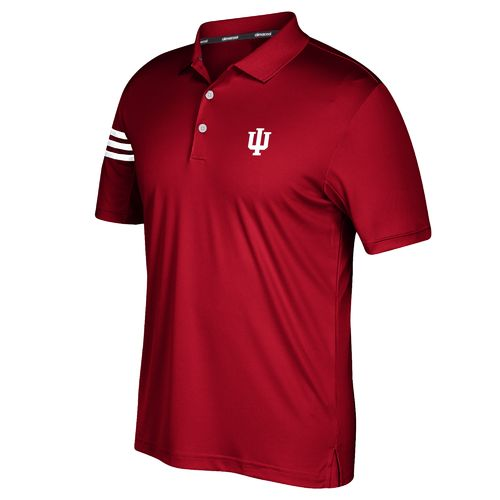 adidas™ Men's Indiana University 3-Stripe Polo Shirt
