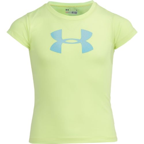 Under Armour Girls' Glitter Big Logo Short Sleeve T-shirt