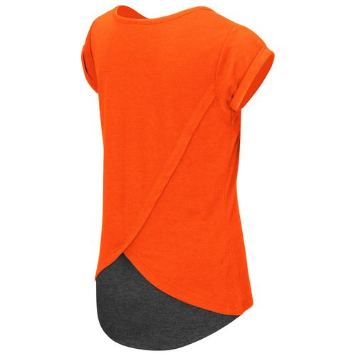Colosseum Athletics™ Girls' Oklahoma State University Baywatch Split Back T-shirt - view number 2