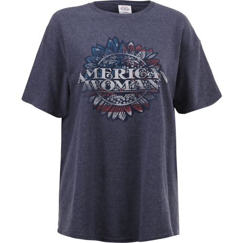 Display product reviews for Academy Sports + Outdoors Women's American Woman Flower T-shirt