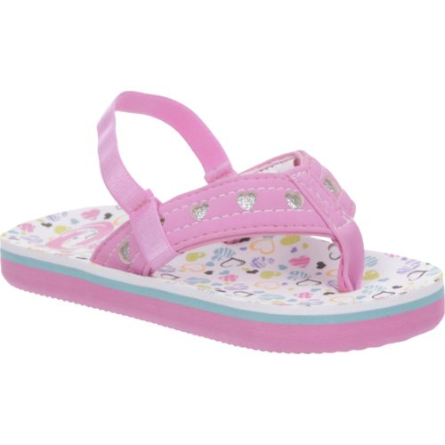O'Rageous Toddler Girls' Hearts Flip-Flops - view number 2
