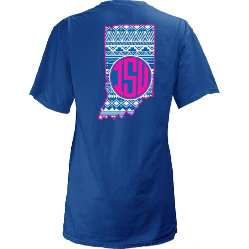 Three Squared Juniors' Indiana State University Aztec State T-shirt