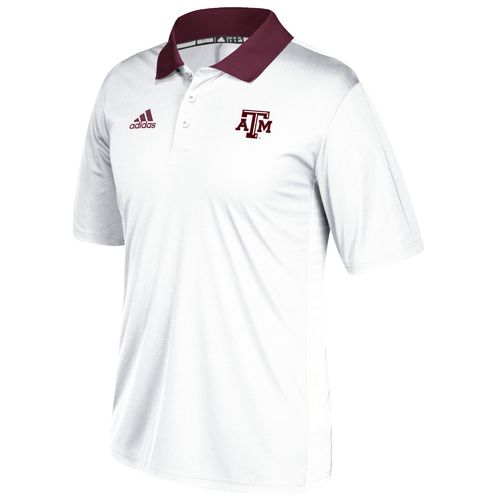 adidas Men's Texas A&M University Sideline Coaches Polo Shirt - view number 1