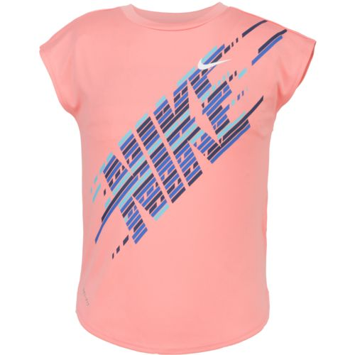 Nike™ Girls' Splice Dri-FIT Modern Short Sleeve T-shirt