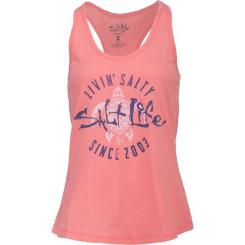Salt Life Women's Livin' Salty Turtle Tank Top