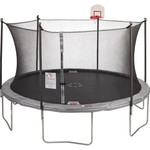 Jump Zone 12 ft Round Trampoline and Enclosure with Dunkzone Hoop - view number 1