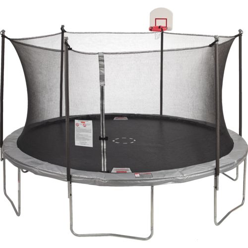 Jump Zone 12 ft Round Trampoline and Enclosure with Dunkzone Hoop