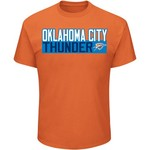 Majestic Men's Oklahoma City Thunder Steven Adams 12 Vertical Name and Number T-shirt - view number 2