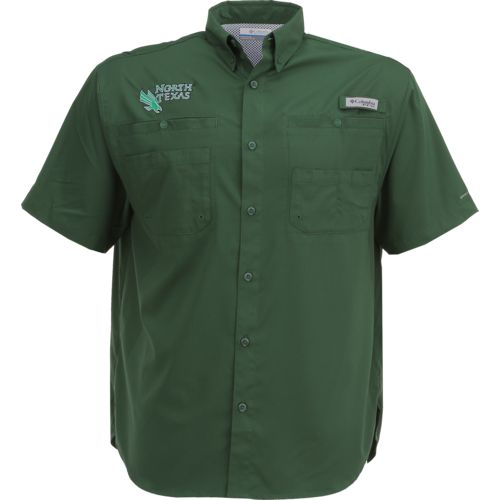 Columbia Sportswear Men's University of North Texas Tamiami™ Short Sleeve Shirt