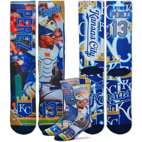 For Bare Feet Unisex Kansas City Royals Salvador Perez Player Socks