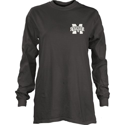 Three Squared Juniors' Mississippi State University Tower Long Sleeve T-shirt - view number 2