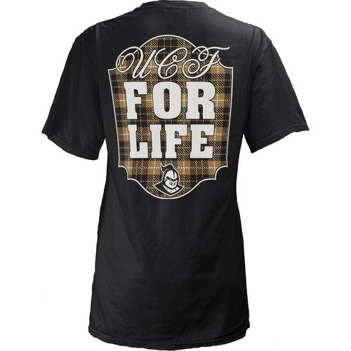 Three Squared Juniors' University of Central Florida Team For Life Short Sleeve V-neck T-shirt