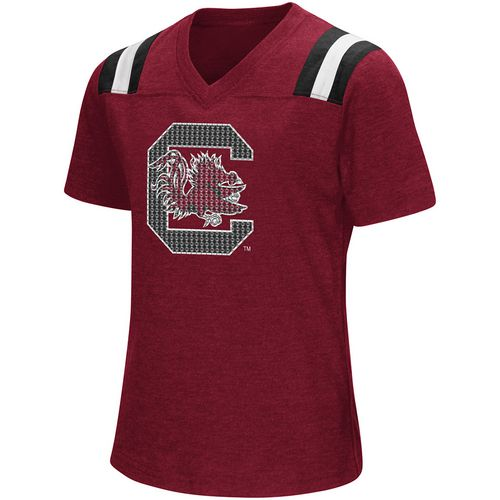 Colosseum Athletics Girls' University of South Carolina Rugby Short Sleeve T-shirt