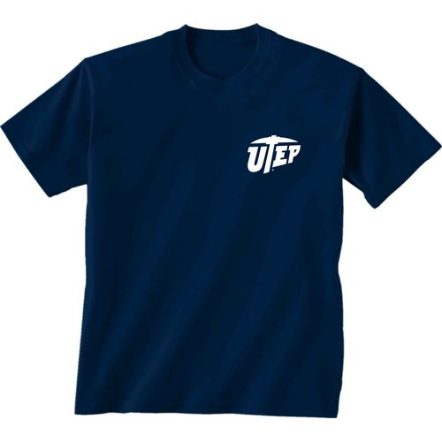 New World Graphics Women's University of Texas at El Paso Comfort Color Initial Pattern T-shirt - view number 2