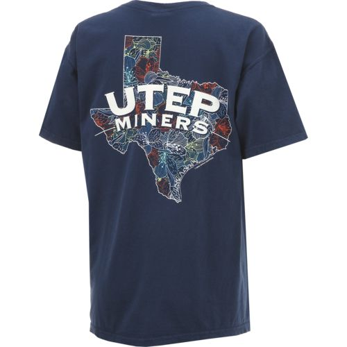 New World Graphics Women's University of Texas at El Paso Comfort Color Puff Arch T-shirt - view number 2