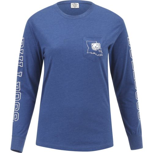 Three Squared Juniors' Louisiana Tech University Mystic Long Sleeve T-shirt