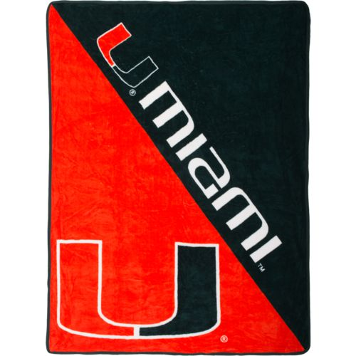 The Northwest Company University of Miami Halftone Micro Raschel Throw
