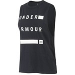 Under Armour Women's Linear Wordmark Muscle Tank Top - view number 1