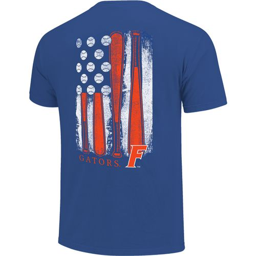 Image One Men's University of Florida Baseball Flag T-shirt