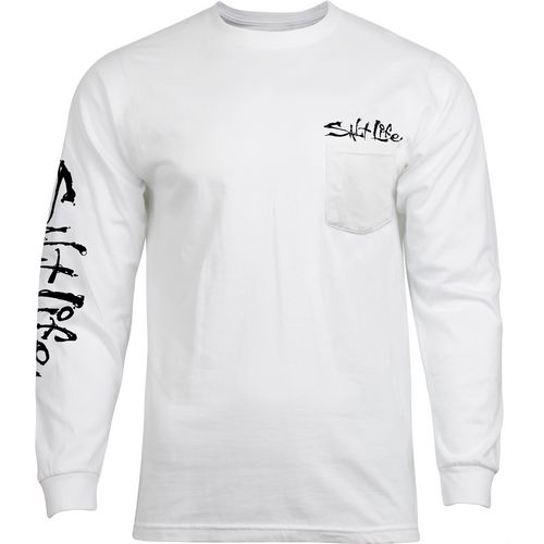 Salt Life Men's Hook, Line and Sinker Fade Long Sleeve Pocket T-shirt