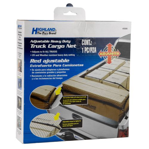 Highland Adjustable Heavy-Duty Truck Cargo Net