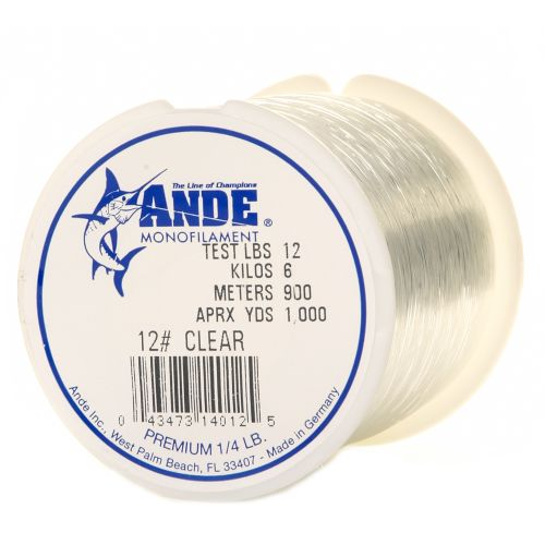 Display product reviews for ANDE® Premium 12 lb. - 1,000 yards Monofilament Fishing Line