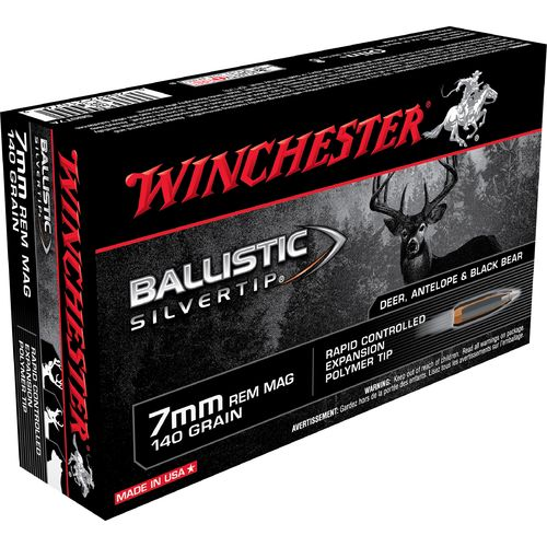 Winchester Supreme® Ballistic Silvertip® 7 mm Remington Magnum 140-Grain Rifle Ammunition