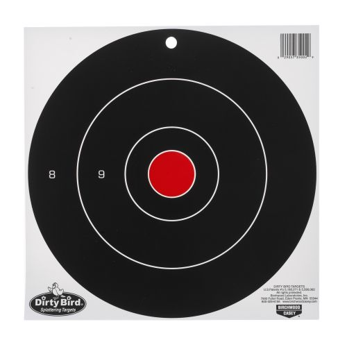 "Display product reviews for Birchwood Casey® Dirty Bird™ 12"" Bull's-Eye Target Sheets 12-Pack"