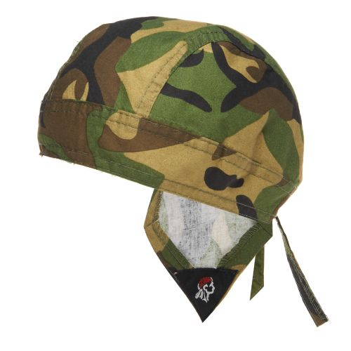 Display product reviews for ZANHeadgear Flydanna Woodland Camo Bandanna