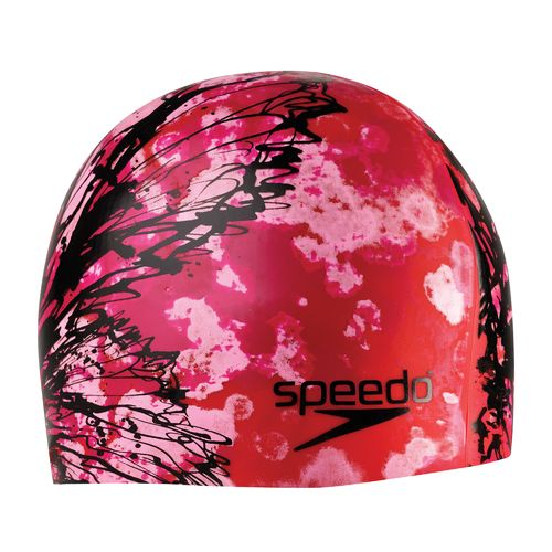 Speedo Butterfly Ink Net Effects Silicone Swim Cap