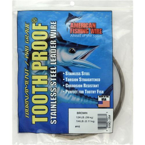 American Fishing Wire Tooth Proof 124 lb. - 30' Single-Strand Leader Wire