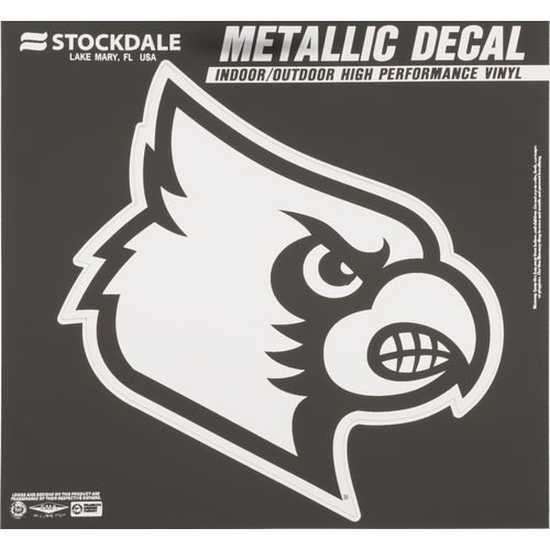 "Stockdale University of Louisville 6"" x 6"" Metallic Vinyl Die-Cut Decal"