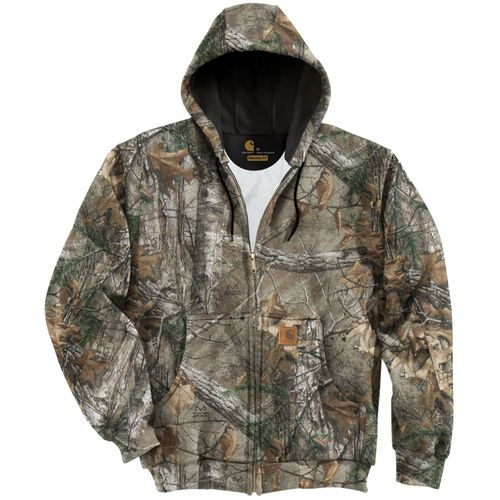 Carhartt Men s Midweight Realtree Xtra  Camo Hooded Zip Front Sweatshirt